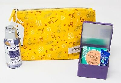 L'Occitane Lavender Shower Gel/ Soap/ Tin/ Lip Balm & Bag • 10£