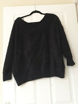 Snuggly Black Off The Shoulder Jumper By New Look Size L • 2.99£