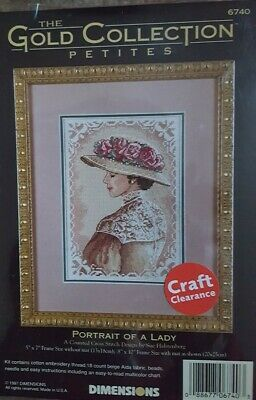 Counted Cross Stitch Kit: Gold Collection Petites - Portrait Of A Lady • 5.50£