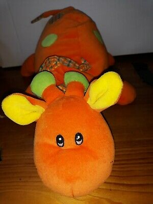 Mamas And Papas Orange Giraffe Musical Lullaby Activity Textures Soft Plush Toy  • 1£