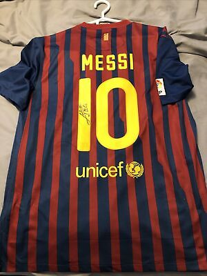 AU306.08 • Buy Fc Barcelona 2011 Messi Signed Jersey Without Certificate [Read Description] XL