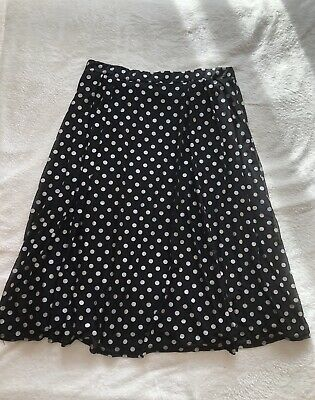Mitzy Black & Silver Polka Dot Skirt Size XL 18-20 Great Condition Knee Length • 9.99£