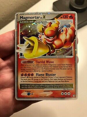AU6.46 • Buy Pokemon TCG Card Mysterious Treasures Magmortar Lv.X 123/123 Ultra Holo Rare