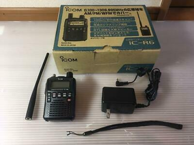 Icom IC-R6 Wide Band Handy Receiver Black Complete With Accessories [Excellent] • 210.29£