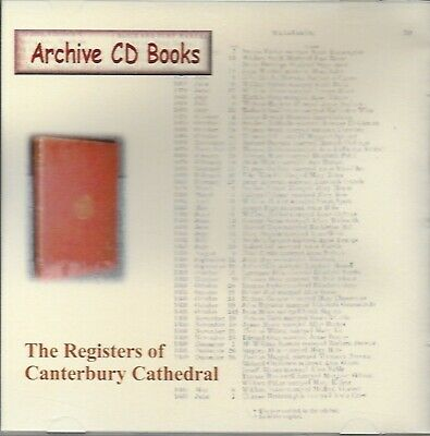 Genealogy The Registers Of 'Canterbury Cathedral' By Archive CD Books New  • 3.50£