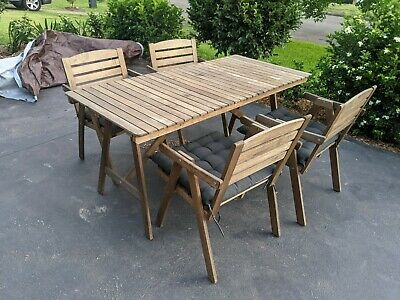 AU120 • Buy Outdoor Setting, Timber Outdoor Table And Chairs, 4 Seater Out Door