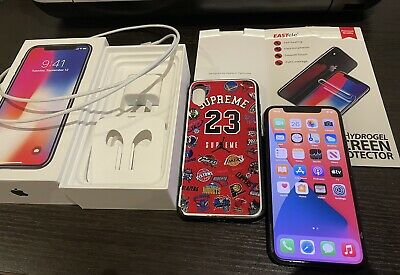 AU425 • Buy Apple IPhone X - 256GB - Space Grey (Unlocked) A1865 With Accessories