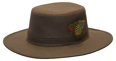 £6.95 • Buy Bush Feather Bushman Hunting Aussie Outback Hat 100% Cotton FAULTY