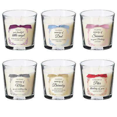 £8.99 • Buy Remembrance Candle Personalised Baby Loss Memorial Bereavement Condolence Gift
