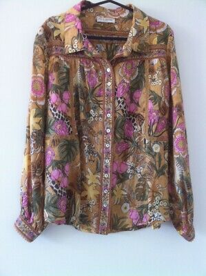 AU300 • Buy Spell Designs Free People Exclusive JUNGLE Blouse Tropical Olive Small