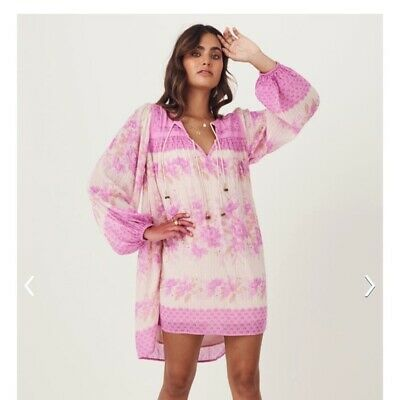 AU300 • Buy Spell Designs Free People Exclusive COCO LEI Tunic Size XS BNWT Lilac/pink