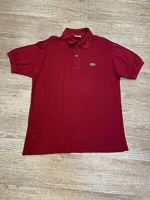 Lacoste Mens Red Polo Shirt Size 4 • 12.50£