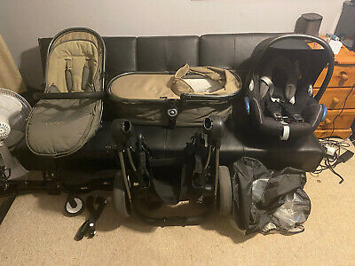 Icandy Peach 3 Full Travel System In Olive Used, With Lots Of Accessories • 200£