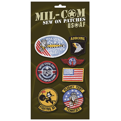 £7.20 • Buy US MILITARY CLOTH PATCHES – Set X 7 Embroidered Army / Airforce / Top Gun Badges