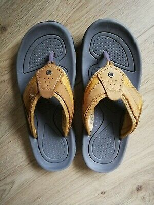 Northwest Leather Toe Post Sandals Brown Size 8 • 14.99£