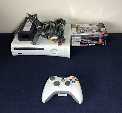 AU139.99 • Buy Xbox 360 60GB HDD Console + 6 Games + Genuine Controller + Power Supply & Cables