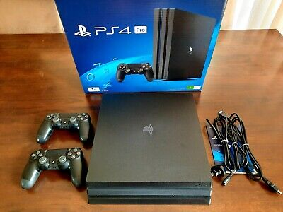 AU255 • Buy PS4 Sony Playstation 4 Pro Console + 2 Controllers + 2 Games / Black 1TB