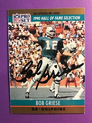 AU25.93 • Buy Signed Bob Griese 1990 Pro Set Football Card Autographed Dolphins Hof