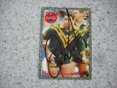 AU14.99 • Buy Nrl Rugby League Card Personally Signed With Coa 1995 Kangaroos Dean Pay