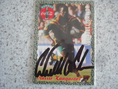 AU10.99 • Buy Nrl Rugby League Card Personally Signed With Coa 1995 Wendell Sailor Kangaroos