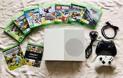 AU150 • Buy Microsoft Xbox One S 500GB Console, Plus 2 Controllers, 8 Games