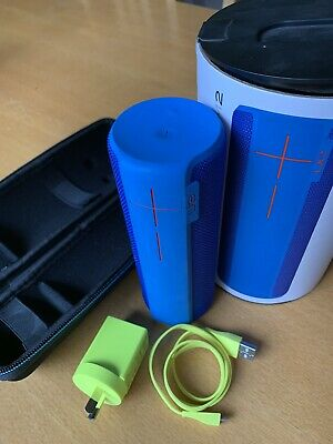 AU50 • Buy Immaculate Blue Ultimate Ears UE BOOM 2 Bluetooth Speaker With Accessories