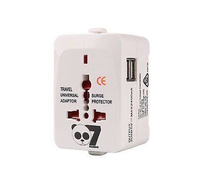 AU9.99 • Buy Universal Travel Adapter Power Charger Plug Converter 2 USB Port All In One
