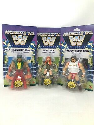 $115 • Buy WWE MOTU Masters Of The Universe Steamboat Rowdy Lynch Wave 5 Lot Of 3