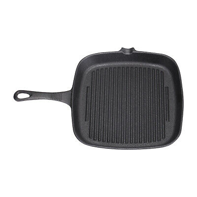 £15.95 • Buy Cast Iron Non Stick Frying Griddle Pan BBQ Steak Cooking Meat Grill Skillet Pan