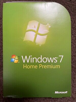 NEW IN BOX Microsoft Windows 7 Home Premium Full 32 Bit & 64 Bit DVD • 71.78£