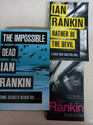 £8 • Buy IAN RANKIN - COLLECTION Of 3 Crime Thrillers