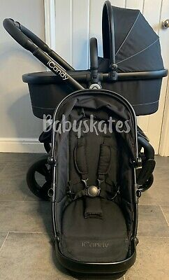 ICandy Peach 4 (2016) In Jet2 Pram Pushchair Travel System Black Unisex • 575£