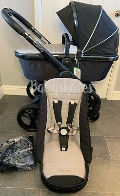 ICandy Peach 5 (2018) Phantom Beluga Pram Pushchair Travel System Unisex • 625£