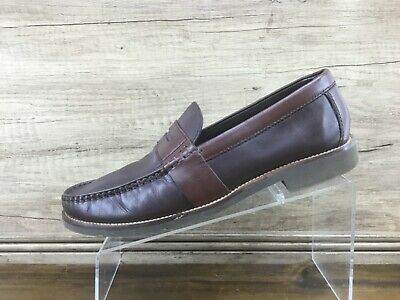Rockport Mens Brown Two Tone Penny Loafers Men's Size 9.5 Excellent • 19£