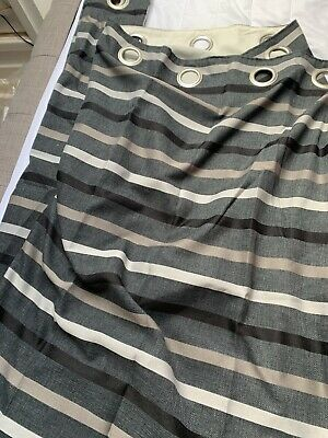 Ikea Striped Curtains X 2 Pairs • 12.80£