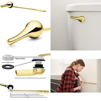 £15.75 • Buy Brass Polished Toilet Tank Flush Lever Handle, With Nut Lock, Gold Finish (Front