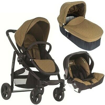 Graco Evo 3-in-1 Travel System Package - Includes Pushchair, Car Seat & Carrycot • 80£