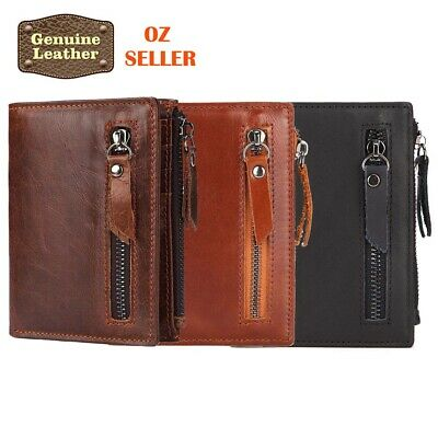 AU14.95 • Buy New Leather Credit Card Holder Men's Money Cash Wallet Clip RFID Blocking Purse