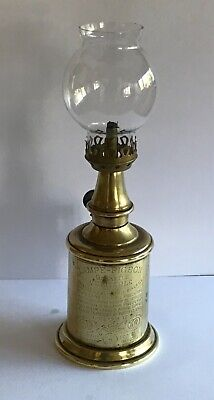 FRENCH Lamp Pigeon Brass Gallery And Glass Shade Fully Working Order • 50£