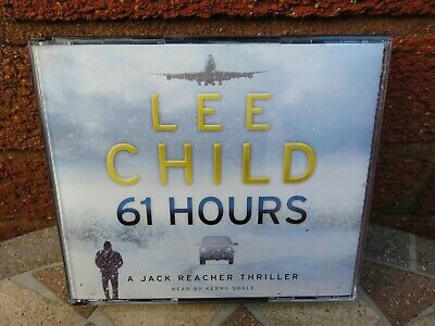 Lee Child 61 Hours  Jack Reacher Thriller Audio Book 4 X CDs Read By Kerry Shale • 4.99£