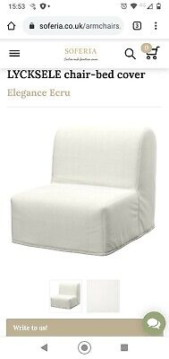 Ikea Lycksele Chair Bed Cover Only White Very Good Condition. White  • 0.99£