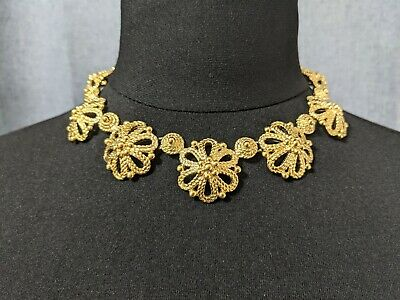 £155 • Buy Lovely Vintage Openwork Design Necklace By Trifari Jewellery