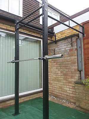 $ CDN684.48 • Buy POWER RACK WALL MOUNTED & SQUAT RIG PULL UP STATION CrossFit