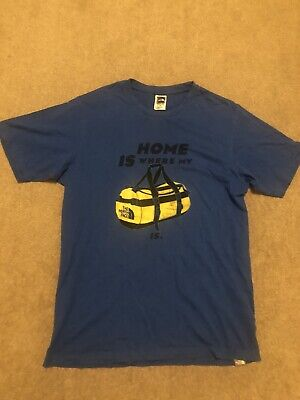The North Face Men's Base Camp Duffel Blue T-Shirt Size Small • 9.99£