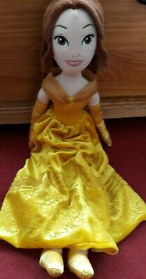 Disney Store Exclusive Princess Belle Soft Plush Doll Toy Teddy Cuddly Rag Doll  • 4.50£