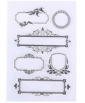 Label Clear Stamps Vintage Junk Journals Card Making • 3.99£