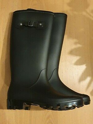 Mens Black Insulated Wellies Size 7 (Fits Size 8 Feet) • 40£