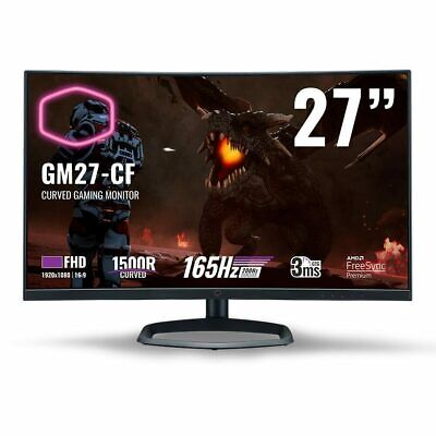 AU554.95 • Buy Cooler Master GM27-CF 27 Full HD 165Hz Curved Gaming Monitor NEW