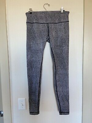 $ CDN82.26 • Buy Lululemon Wunder Under Black/ White Leggings Net Pattern Sz 10