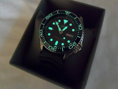 $ CDN50 • Buy Luminous Blue Ceramic Bezel Insert For Seiko SKX007 SKX009 Seamaster Submariner